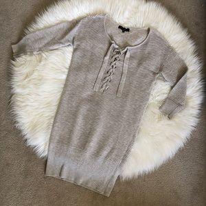 Dynamite Grey Sweater Dress XS